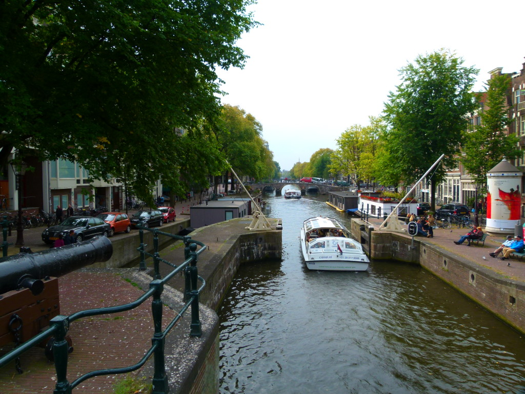 Canal with tourist boat