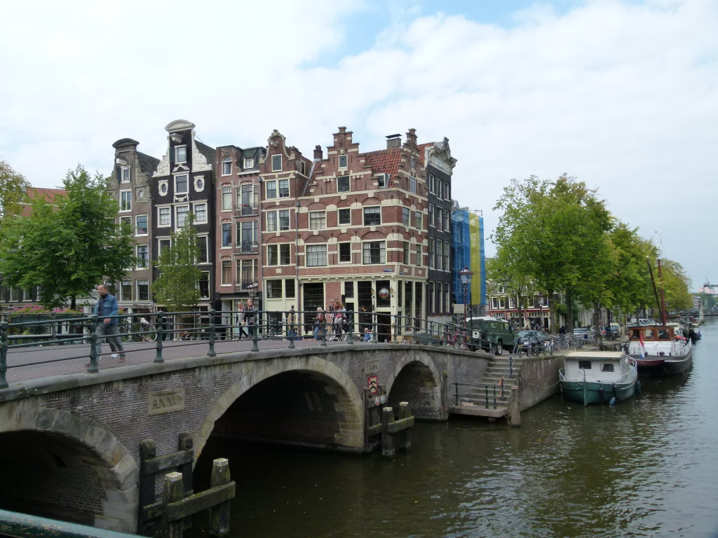 One of the many bridges over the canals in Amsterdam
