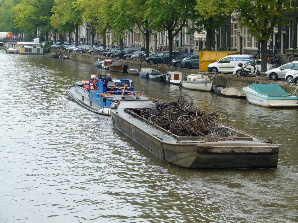 so where do all the old bikes go that have been thrown or fallen into the canals.