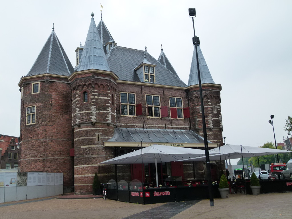 De Waag (weigh house), originally a city gate and part of the walls of Amsterdam. One of the oldest non-religious buildings in Amsterdam