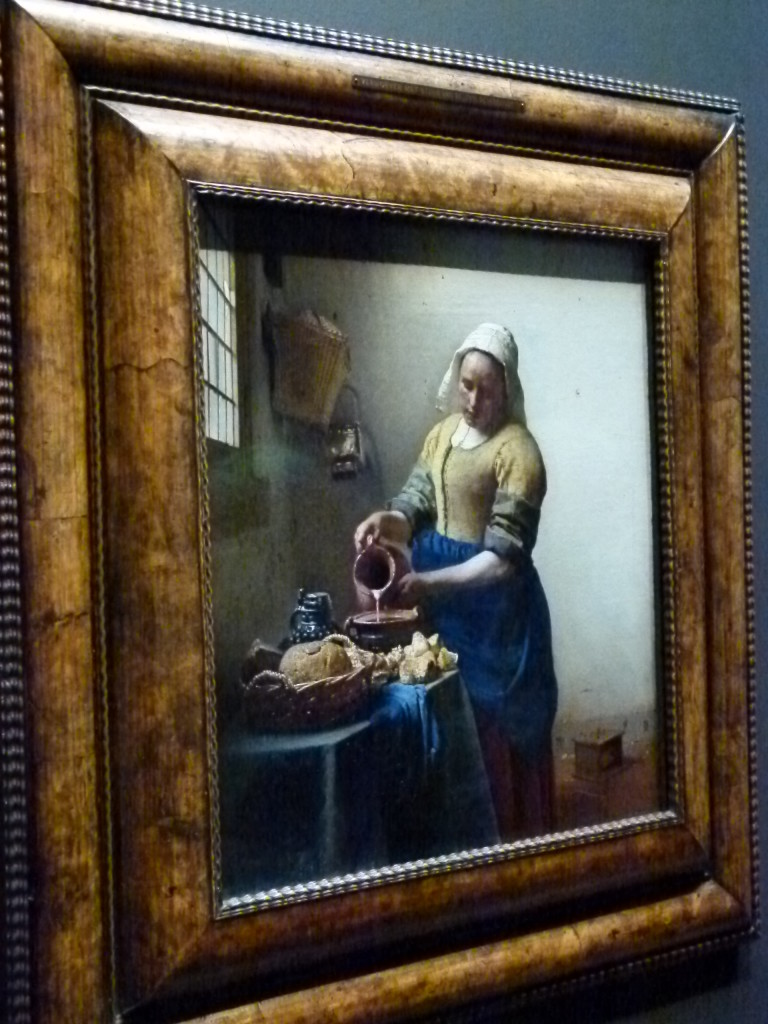A favorite picture in the Rijksmuseum, Vermeers painting of the milkmaid