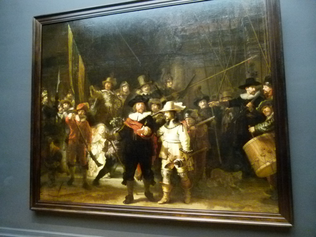 Militia Company of District II under the Command of Captain Frans Banninck Cocq, also known as The Shooting Company of Frans Banning Cocq and Willem van Ruytenburch, but commonly referred to as the Nightwatch, probably easier to say.