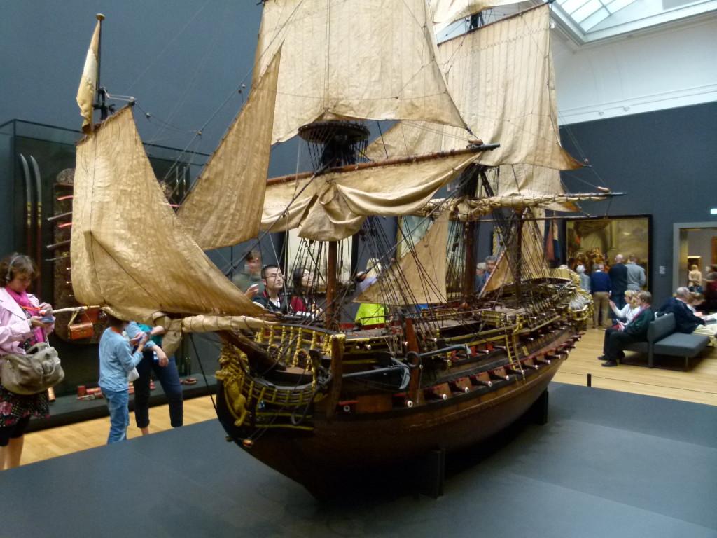A magnificent model of a Dutch ship