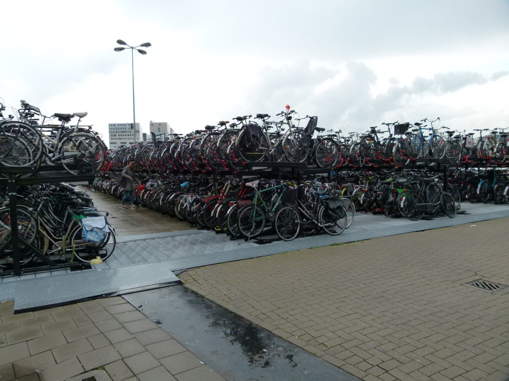 The solution to parking your bike at the train station in Amsterdam, but how do you find it after