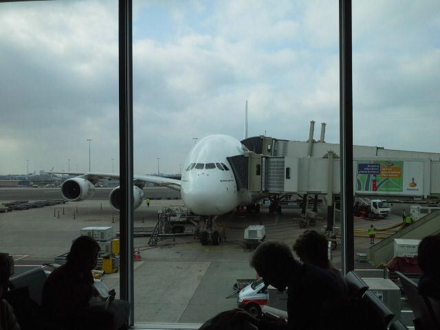 Our plane ready to take us out of Europe towards Australia.