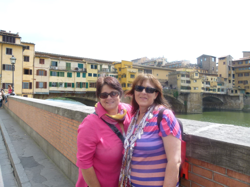 Jenny and Lori in Florence.
