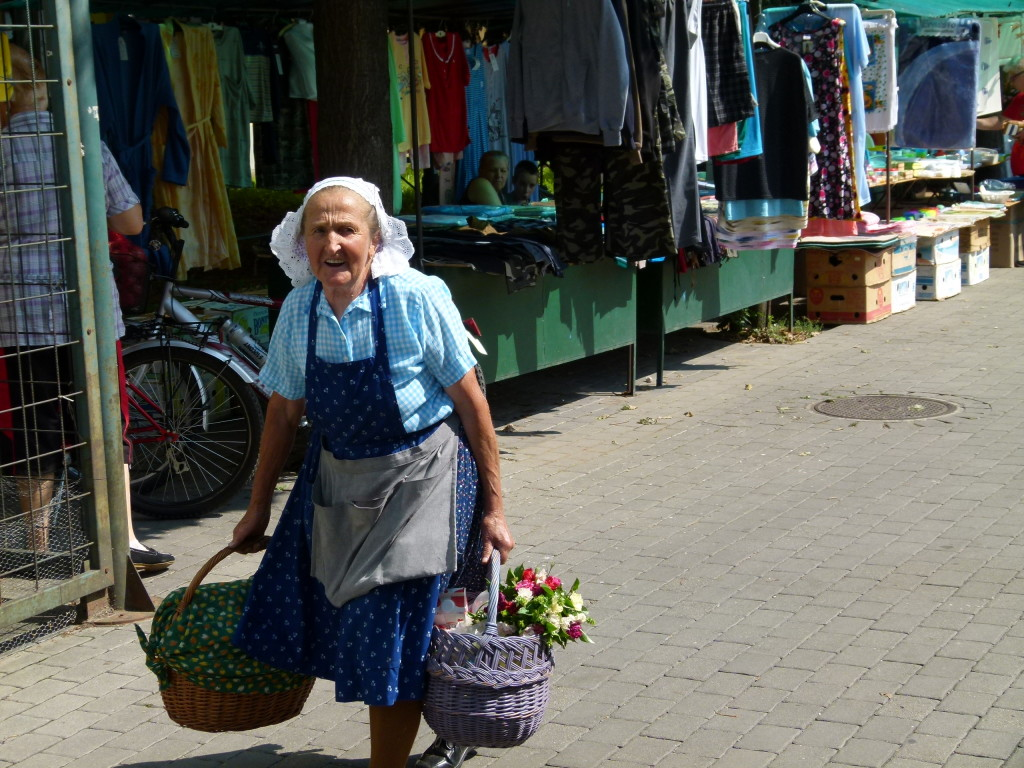 The local market in a small village, Hungary.
