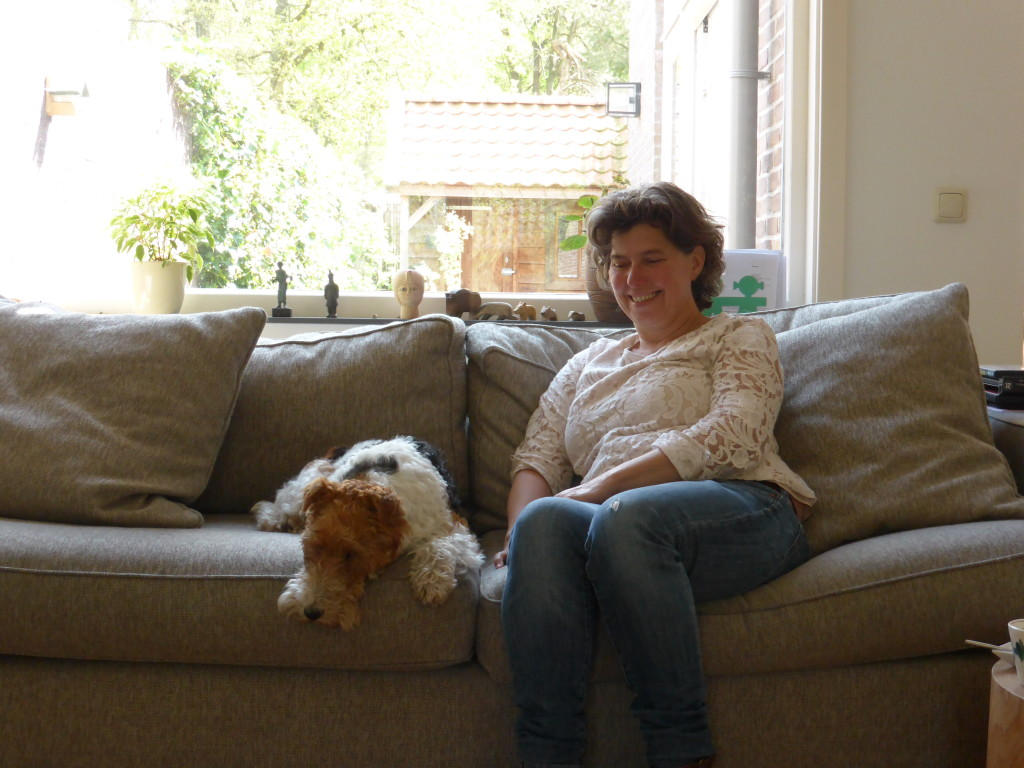 Tonnie and her dog Bobby.