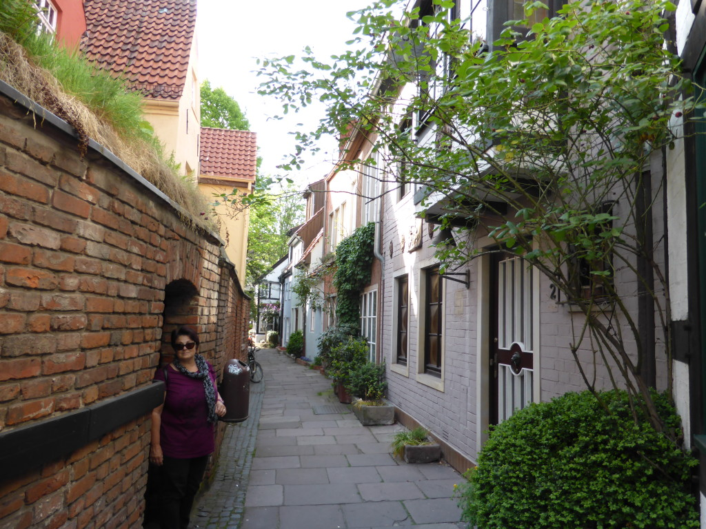 In the oldest part of town. Very small narrow streets from the 15 - 16th century.