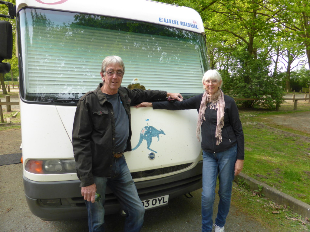 David and Gail. Fellow Aussies traveling in Europe with their motorhome