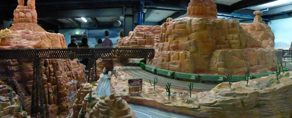 It's the biggest  model train set in the world. So they say, it sure looked like it.