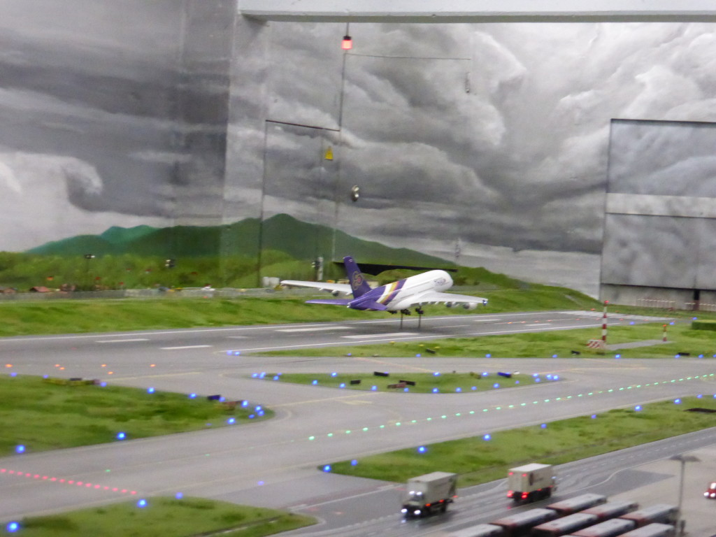 The airport was amazing with planes coming and going with sound effects to match.