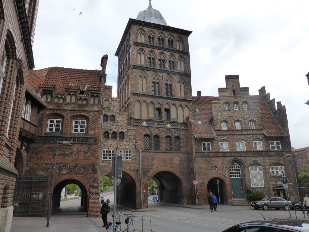 One of the entrances to the old town Lubeck. Taken from the inside.