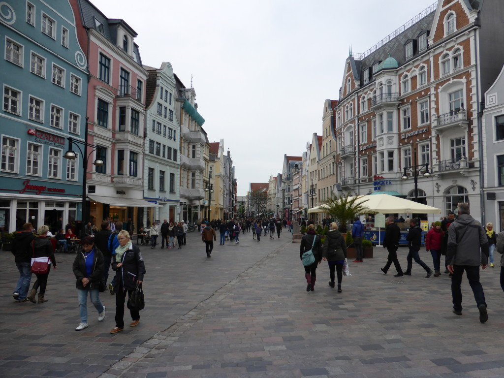 View of the streets of Rostock. The place was busy with shoppers and a few tourists like us.