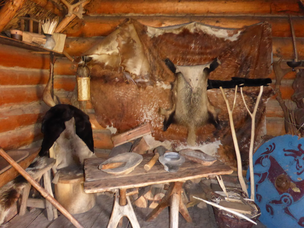 Inside all the building were furnishings as they would have been in the Viking times.