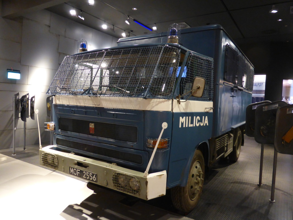The vehicles the military used in the Marshall Law period