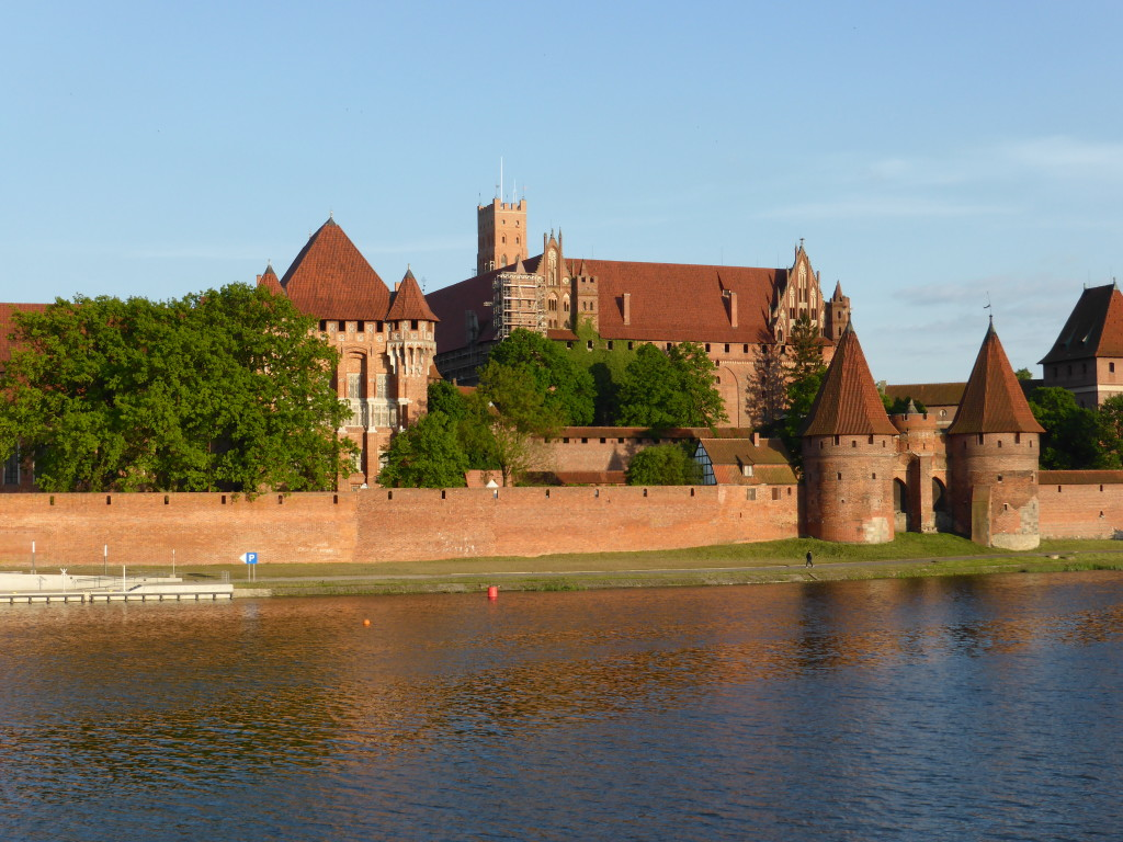The Malbork castle taken from across the bridge.