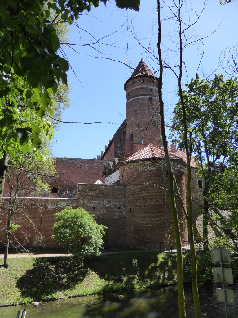 The castle at Olsztyn. Small compared to the one at Malbork.