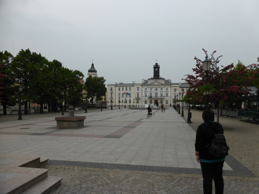 Town square of Plock. Not very busy as it was a rainy afternoon.
