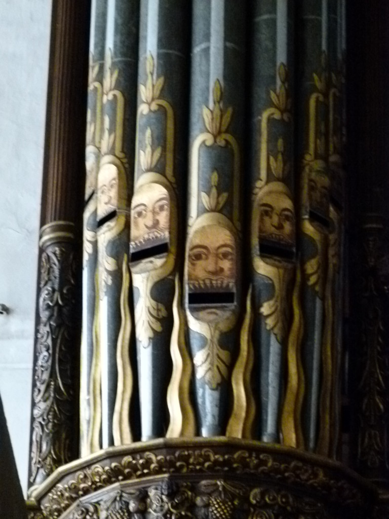 Organ Pipes in the church.