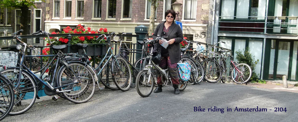 Bikeriding in Amsterdam