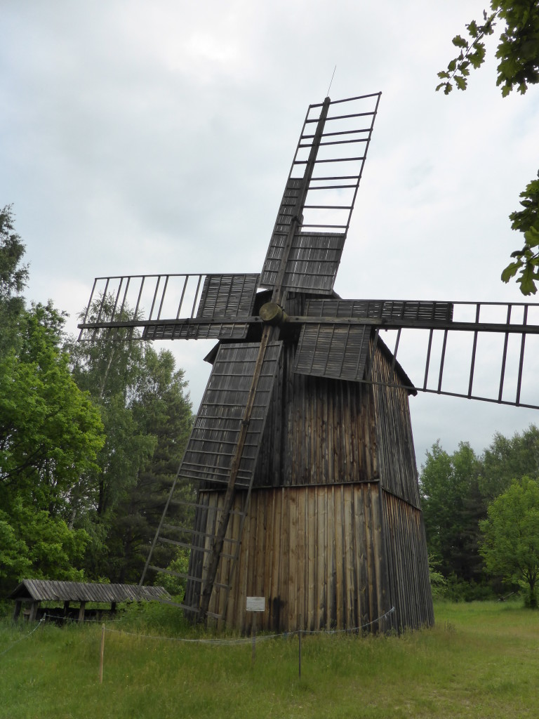 A very different windmill from those in Holland.