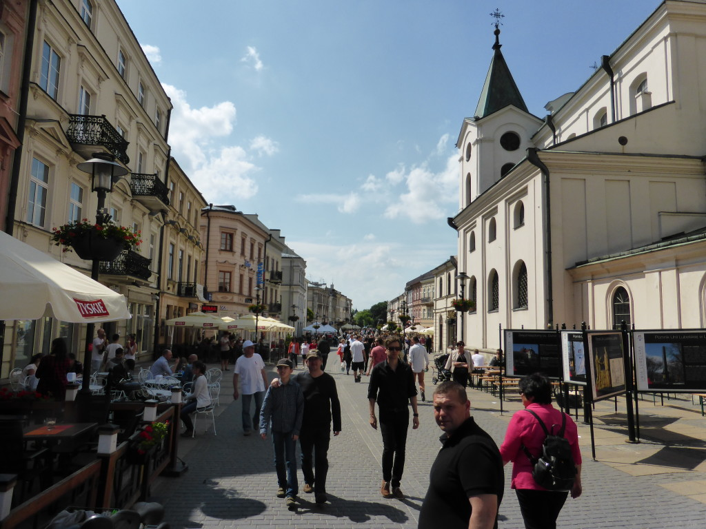 The place was very lively. Lublin was a pleasant days outing.