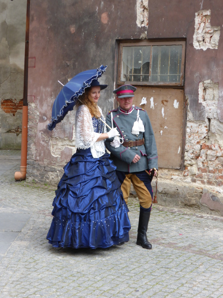 Wedding photos were taken at various locations around the town. These two went all out in there attire.