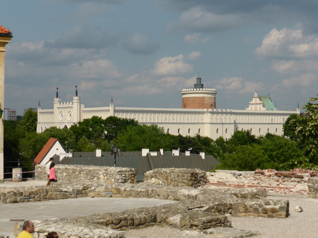 View of the old castle in Lublin.