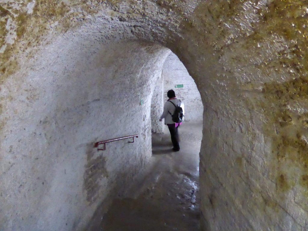 Inside the chalk mines of Chelm.