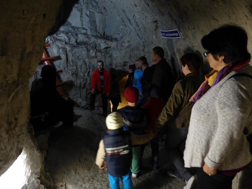 Out tour guide explaining how the tourist mine was established.