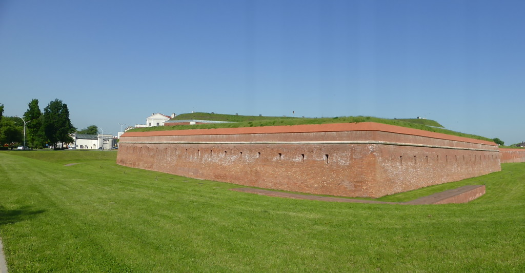 The fortifications of the old town Zamosc.