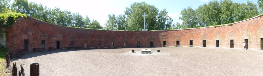 In this place 8000 people were killed during the war. Each room had tributes to those killed.