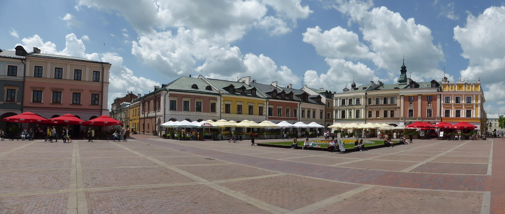 Another view of the town square.