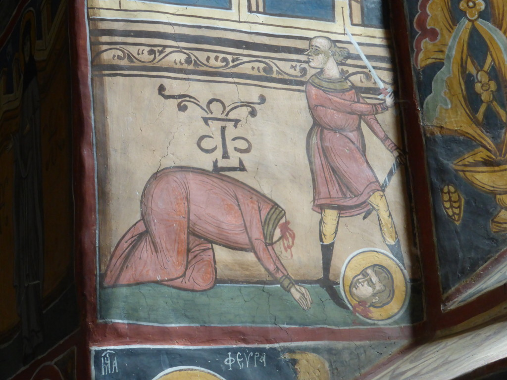 Many martyrs were depicted getting killed in many gruesome paintings.