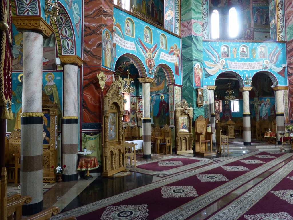 This was the inside of the church at Humurului.