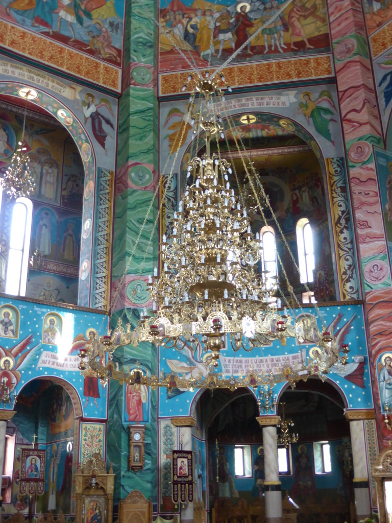 This was the centre piece of the church a massive chandelier.