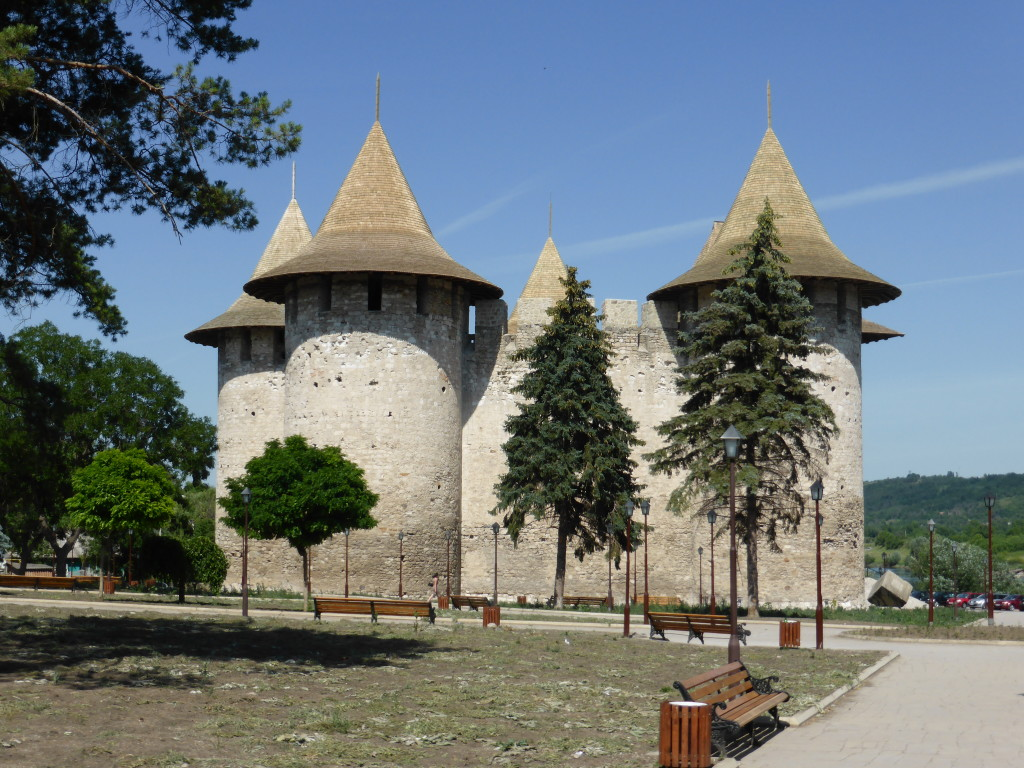 The fortress at Soroca. It was only reopen 3 weeks ago after renovations, including the wooden tops on the towers.