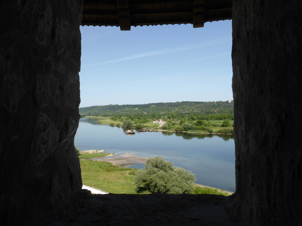 View from the fortress window looking out onto Ukraine.