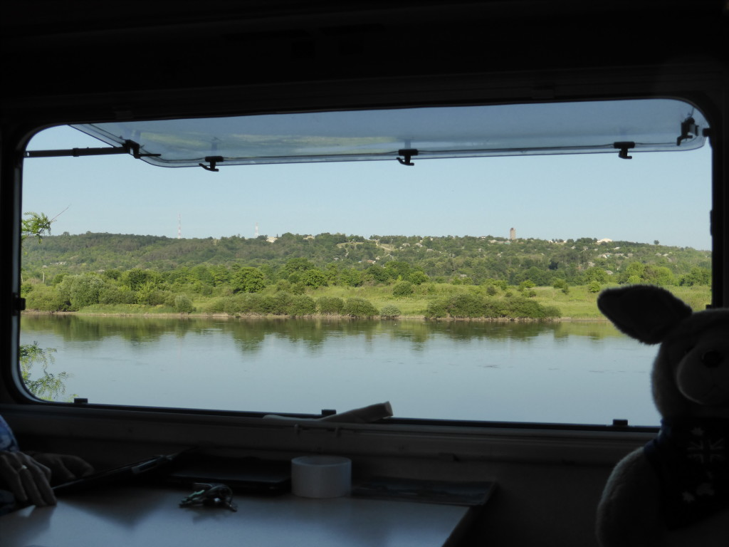 From our window we could see the Ukraine across the river. That as close as we can get as getting visa is not easy.