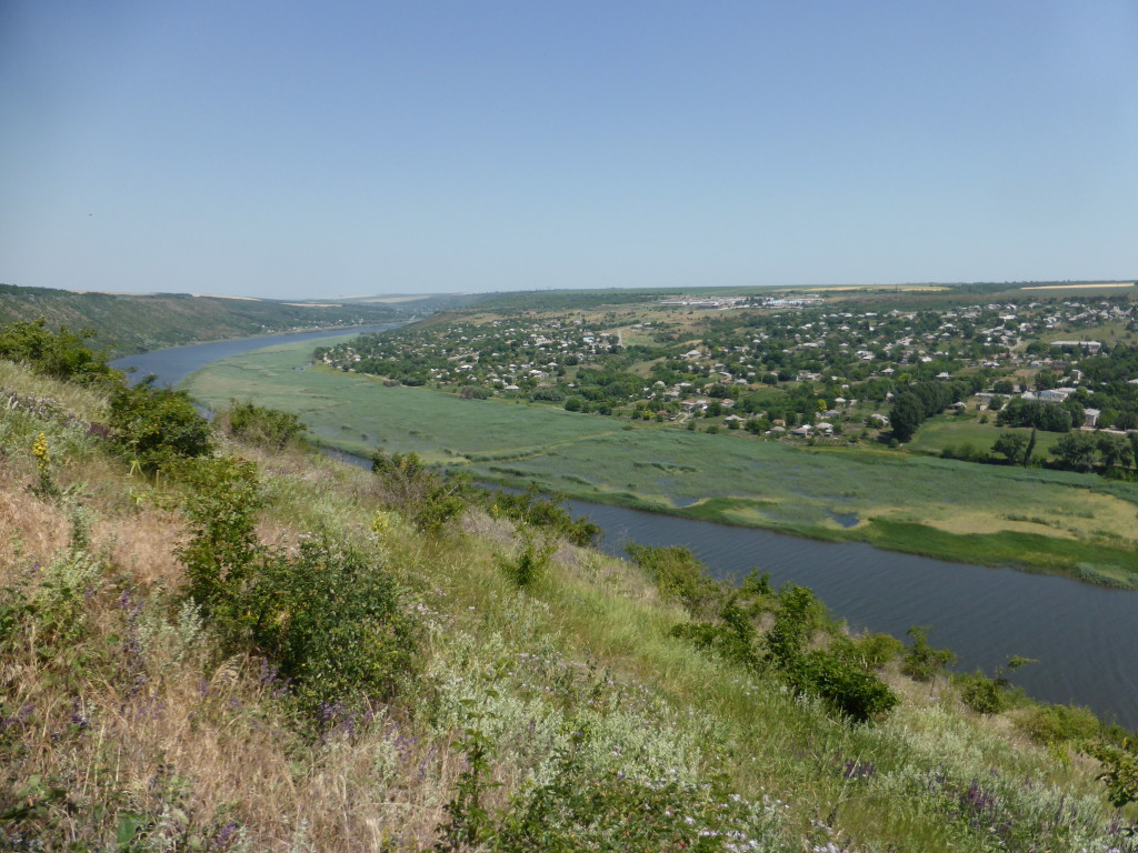 Across the river is Transnistria. The separate state within Moldova.