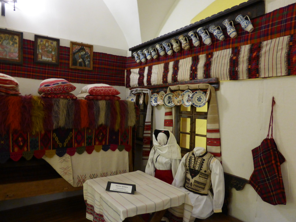 Display inside the Faragas fortress museum.