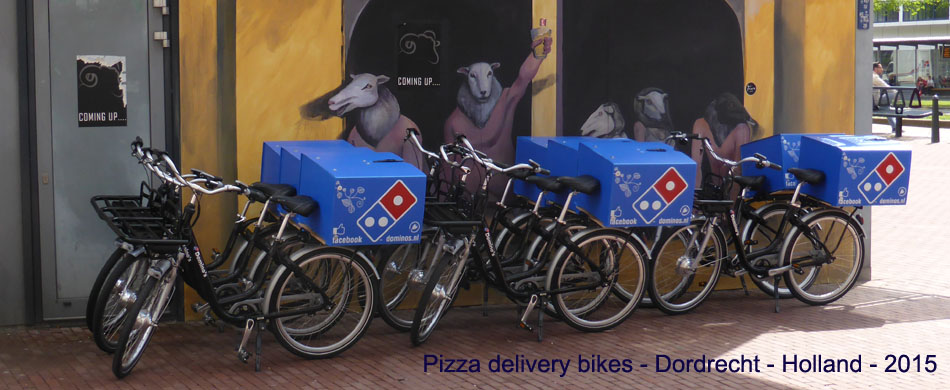 Pizza delivery bikes