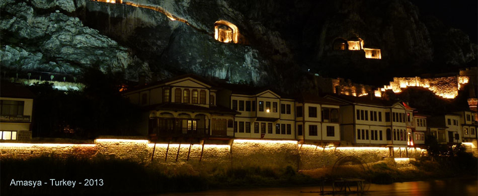 night photo in Amasya w