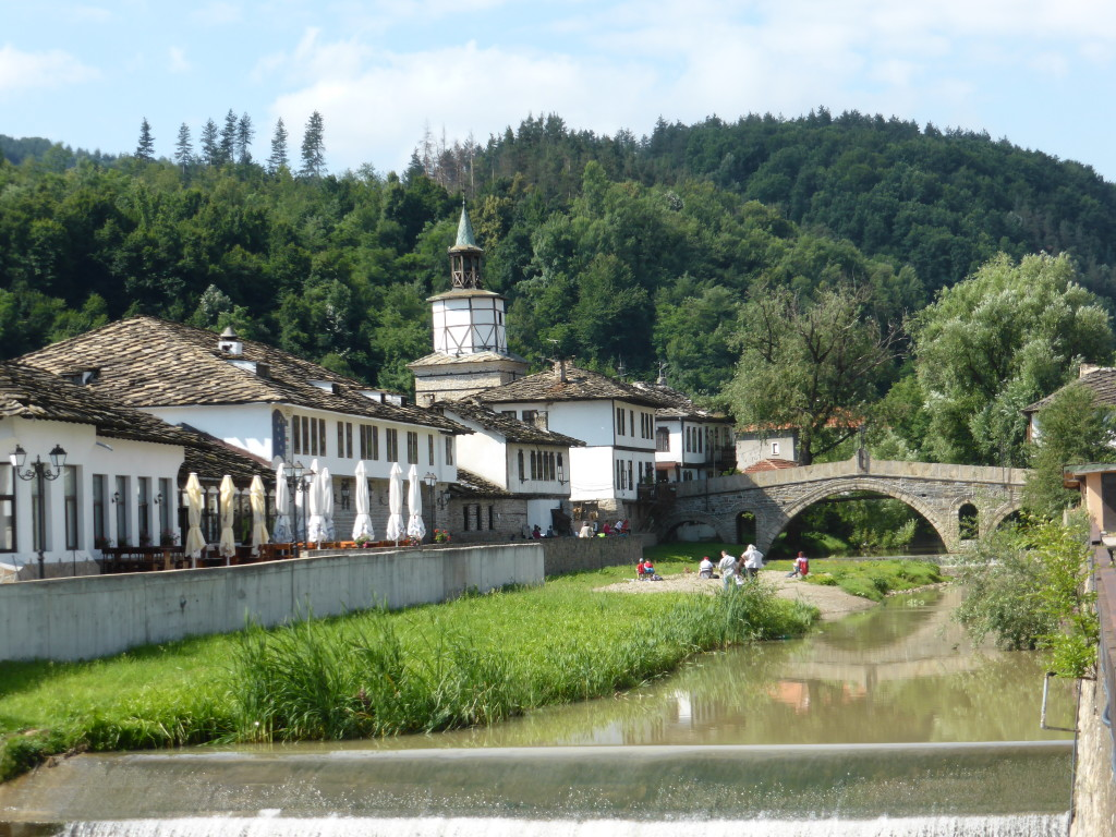 This is the view from our carpark in Tryavna. We couldn't had got much closer and it was free.