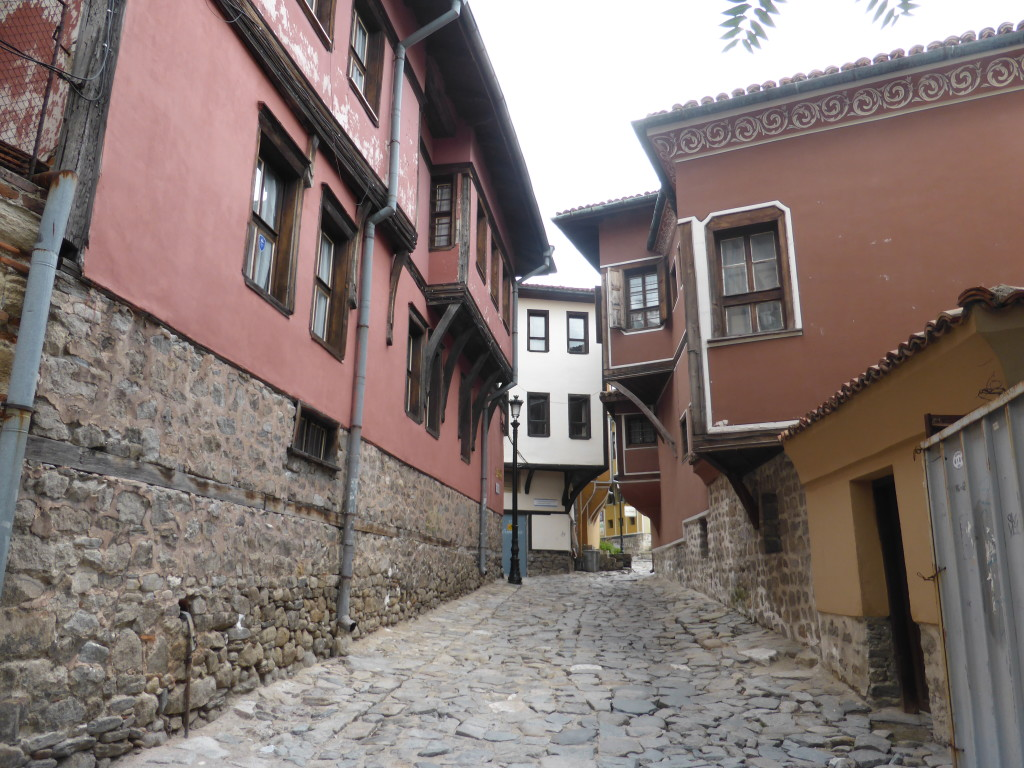Our first glimpse of the old town in Plovdiv.