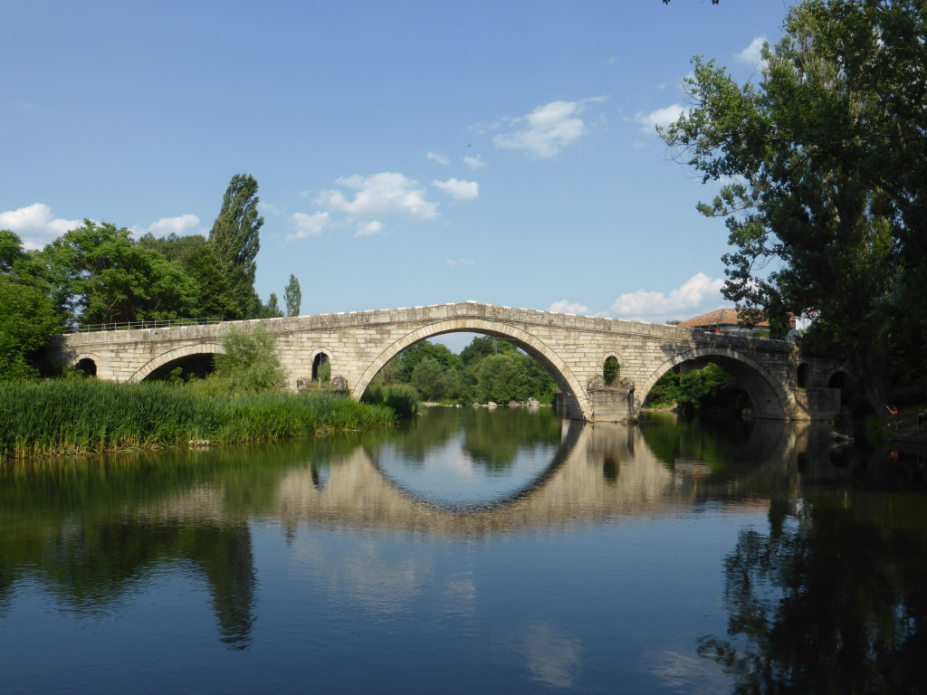 Now this is the bridge we came to see. the Kadin Most in the village of Nevestino, built in 1470.