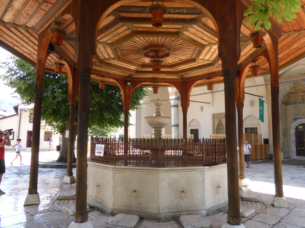 In the courtyard of the mosque was an elaborate fountain and gazebo.