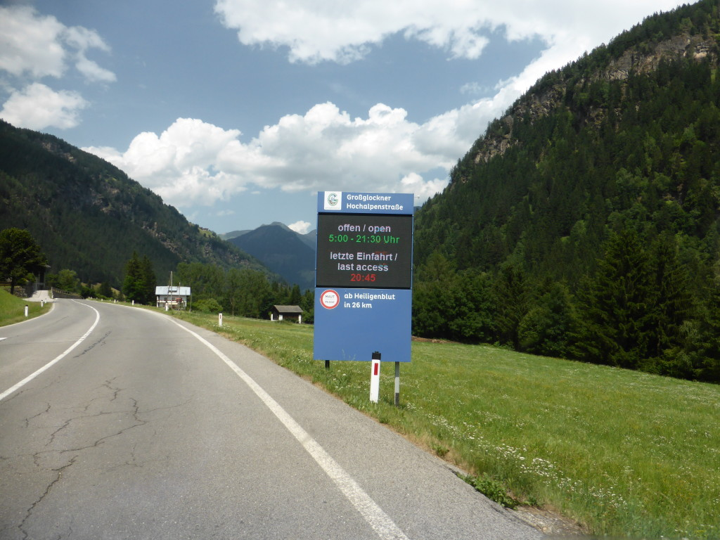 The road leading to the Grossglockner. Further along we found our spot for the night.
