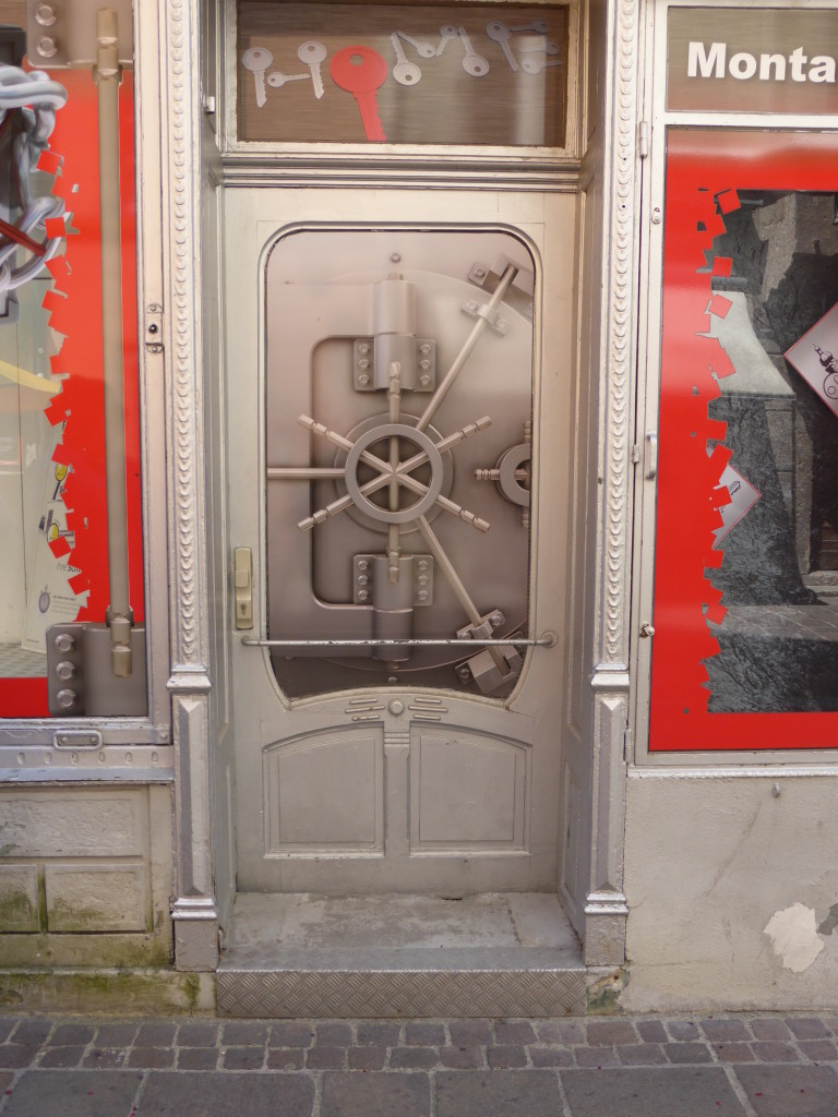 Door of a locksmith shop.